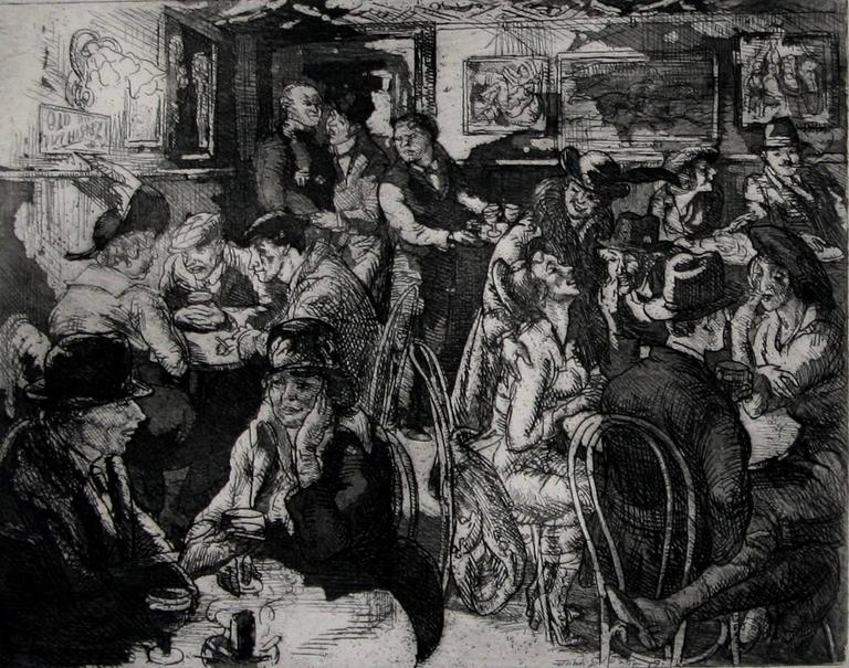 John Sloan Hell Hole Print For Sale At 1stdibs