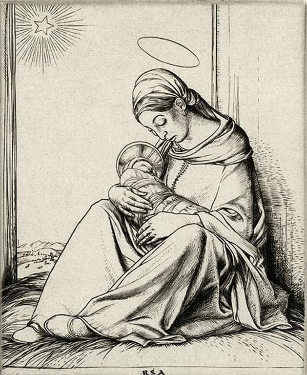 Bethlehem. - Pre-Raphaelite Print by Robert Sargent Austin, R.A., P.R.E., P.R.W.S.