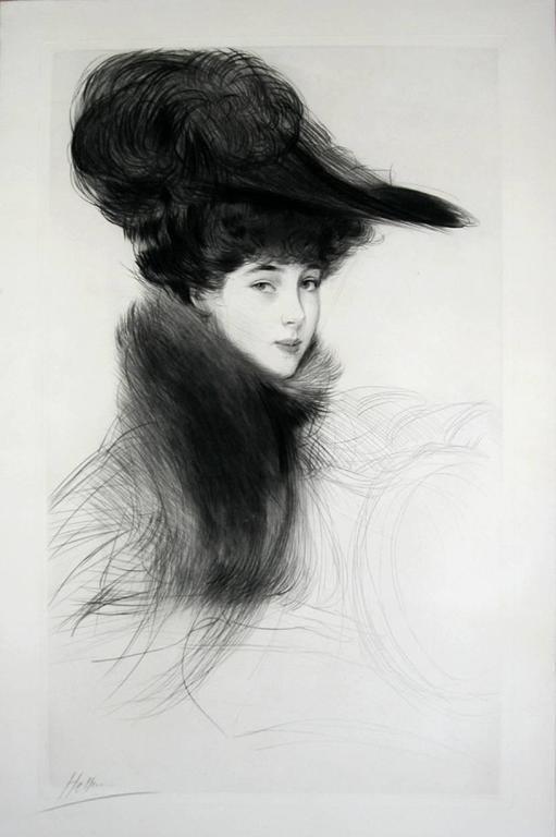 La Duchesse de Marlborough, Consuelo Vanderbilt - Impressionist Print by Paul César Helleu