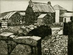 Farmyard from the Stone Wall.