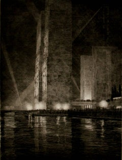 Grand Canal, America (Electrical Buildings at Night)