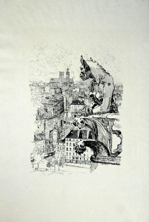 Carl Hentschel Gargoyle Of Paris After Joseph Pennell