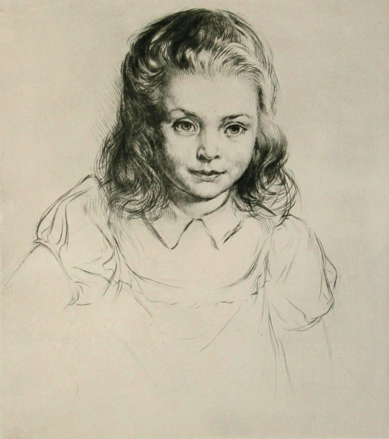 Arthur William Heintzelman. Portrait Print - Janine