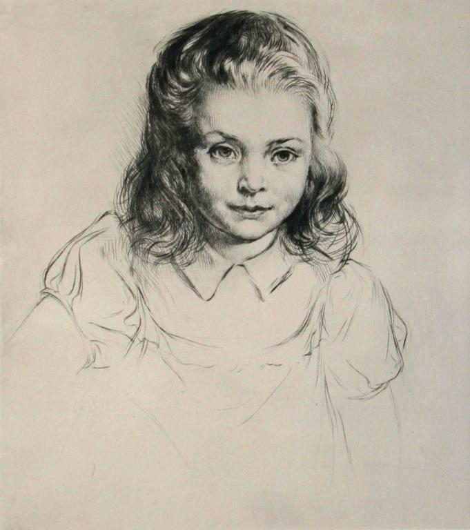 Janine - Print by Arthur William Heintzelman.