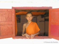 Novice Monk in Luang Prabang, Laos,  December 14, 2008
