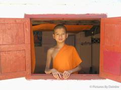 Novice Monk in Luang Prabang, Laos,  December 14, 2008