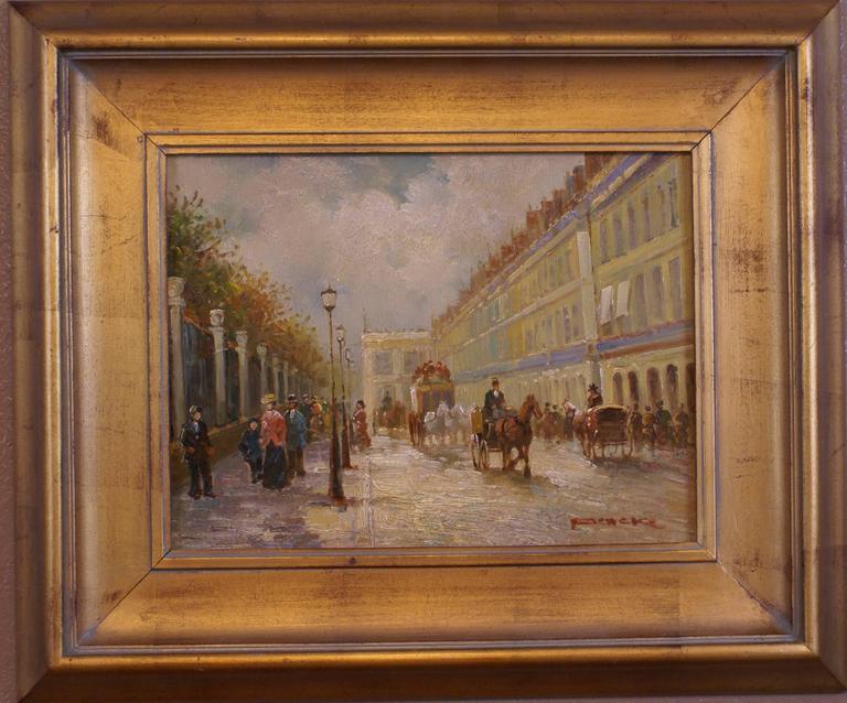 T.E. Pencke Landscape Painting - Rue de Rivoli, Paris
