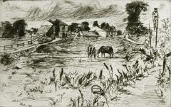 Landscape with Horses.