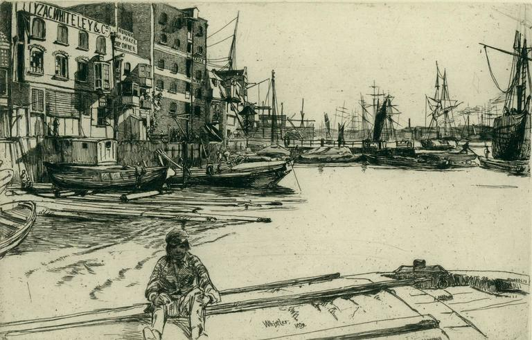 James Abbott McNeill Whistler - Eagle Wharf 1