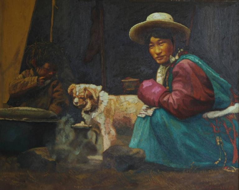 Family Downtime. - Painting by Zhiyue Zheng