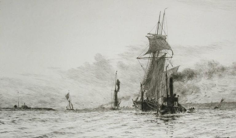 William Lionel Wyllie Slipping The Tow Ropes Print For