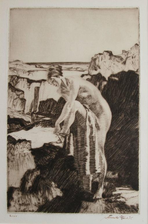 Celinda's Precaution - Print by William Russell Flint