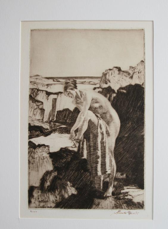 Celinda's Precaution - Modern Print by William Russell Flint