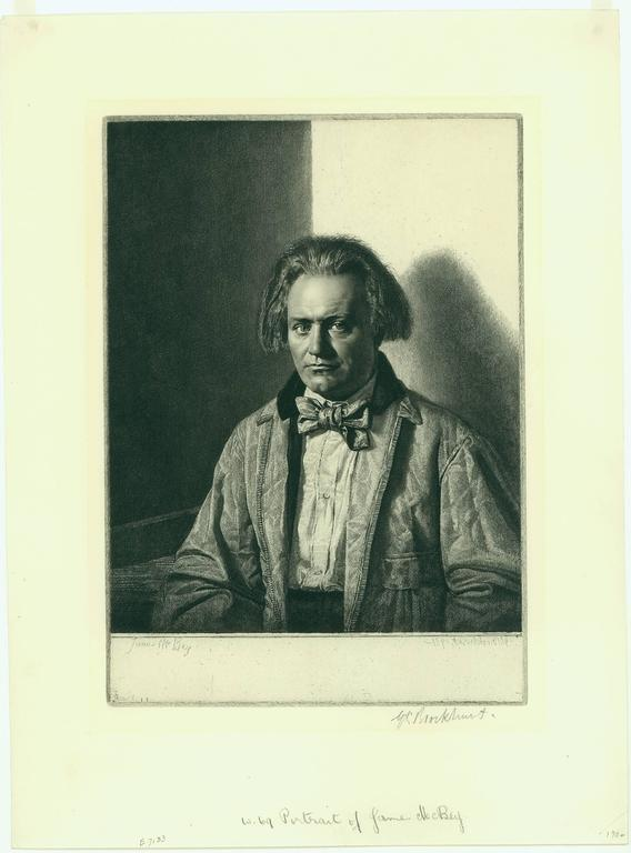 Gerald Leslie Brockhurst James Mcbey Print For Sale At