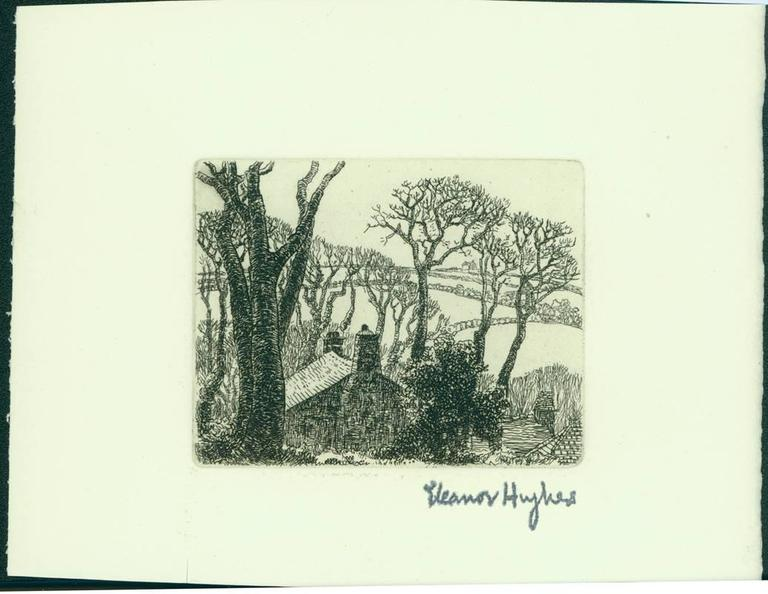 Farmhouse with Fields - Print by Eleanor Mary Hughes
