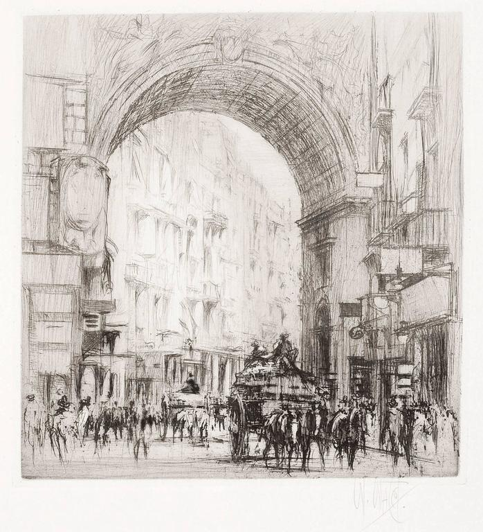 Arc San Carlo, Naples.  - Print by William Walcot, R.E., Hon.R.I.B.A.