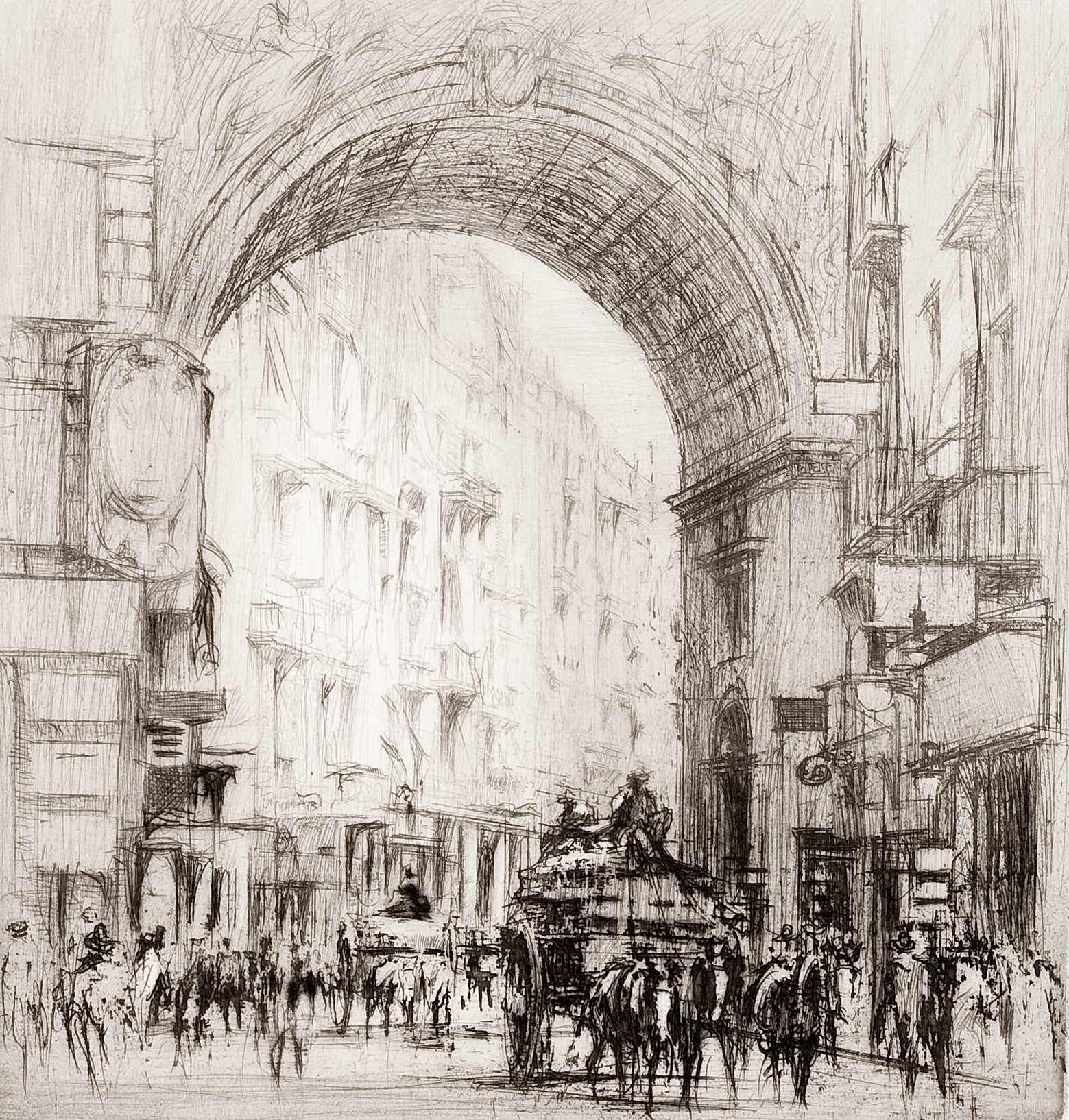 Arc San Carlo, Naples.