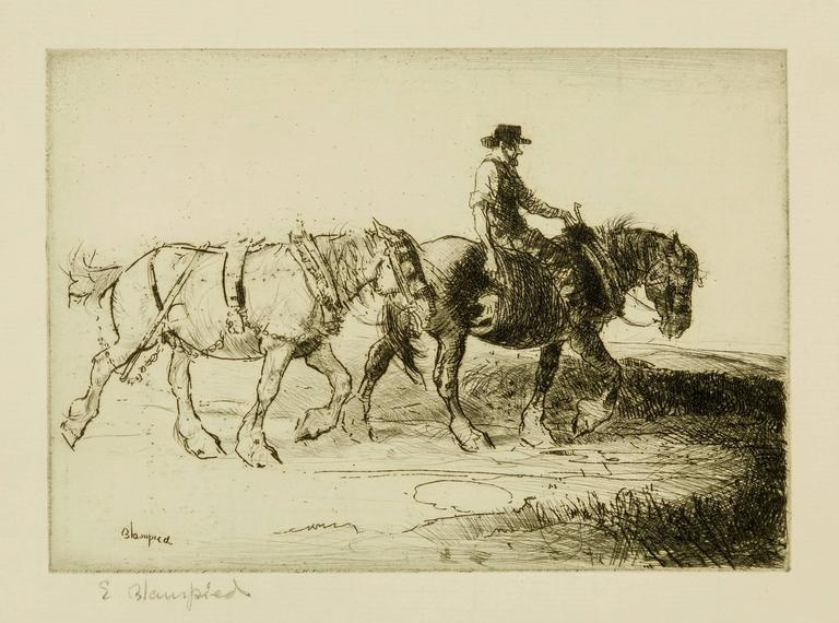 Homewards, Evening. - Print by Edmund Blampied