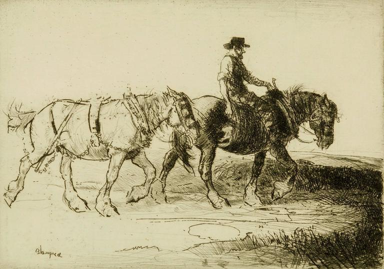 Edmund Blampied - Homewards, Evening. 1