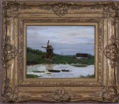 {Dutch Landscape with Windmill}