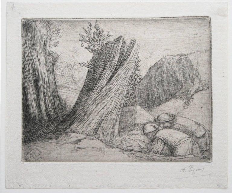 Chercheurs du Trésor (Treasure Hunters).  - Print by Alphonse Legros