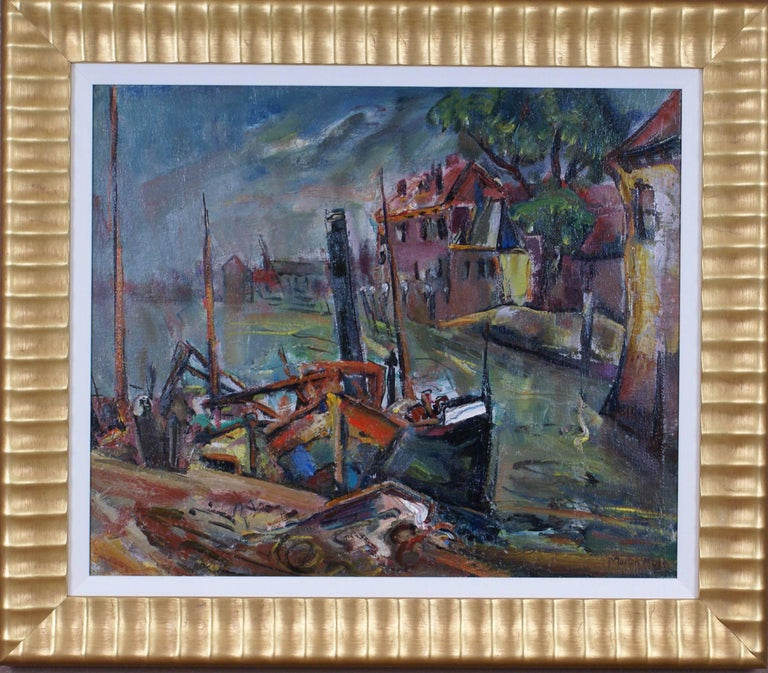 Marion Huse Landscape Painting - {The Wharf}