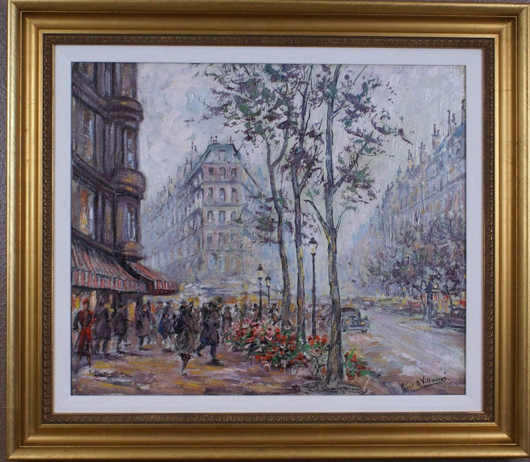 Cesar A. Villacres Landscape Painting - {Parisian Scene}