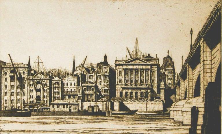 Fishmonger's Hall, London - Modern Print by Ian Strang