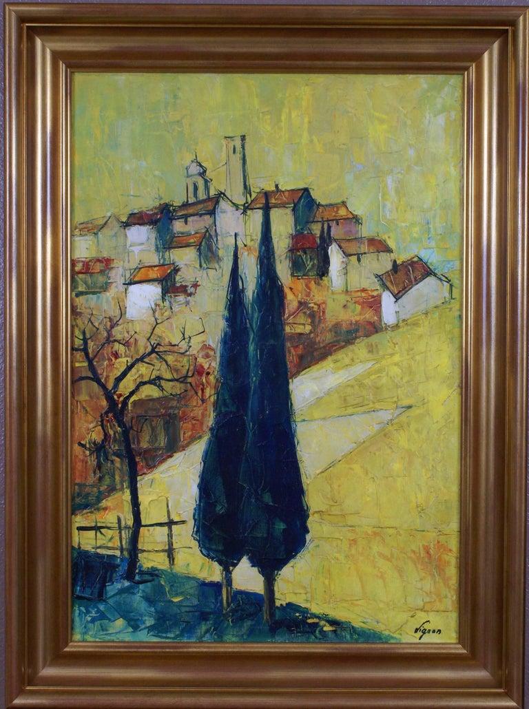 Bernard Lignon Landscape Painting - {Village de  Provençe}