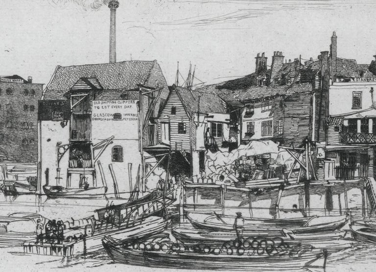 James Abbott McNeill Whistler Landscape Print - Black Lion Whart