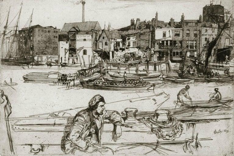 Black Lion Whart - American Modern Print by James Abbott McNeill Whistler