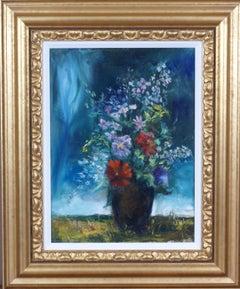 {Floral Still Life in Landscape}
