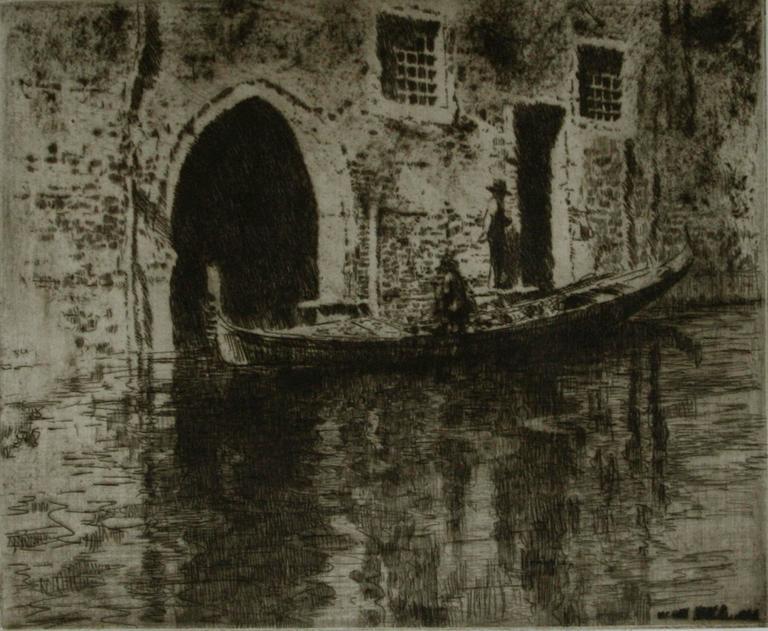 James McBey. Landscape Print - The Deserted Palace.