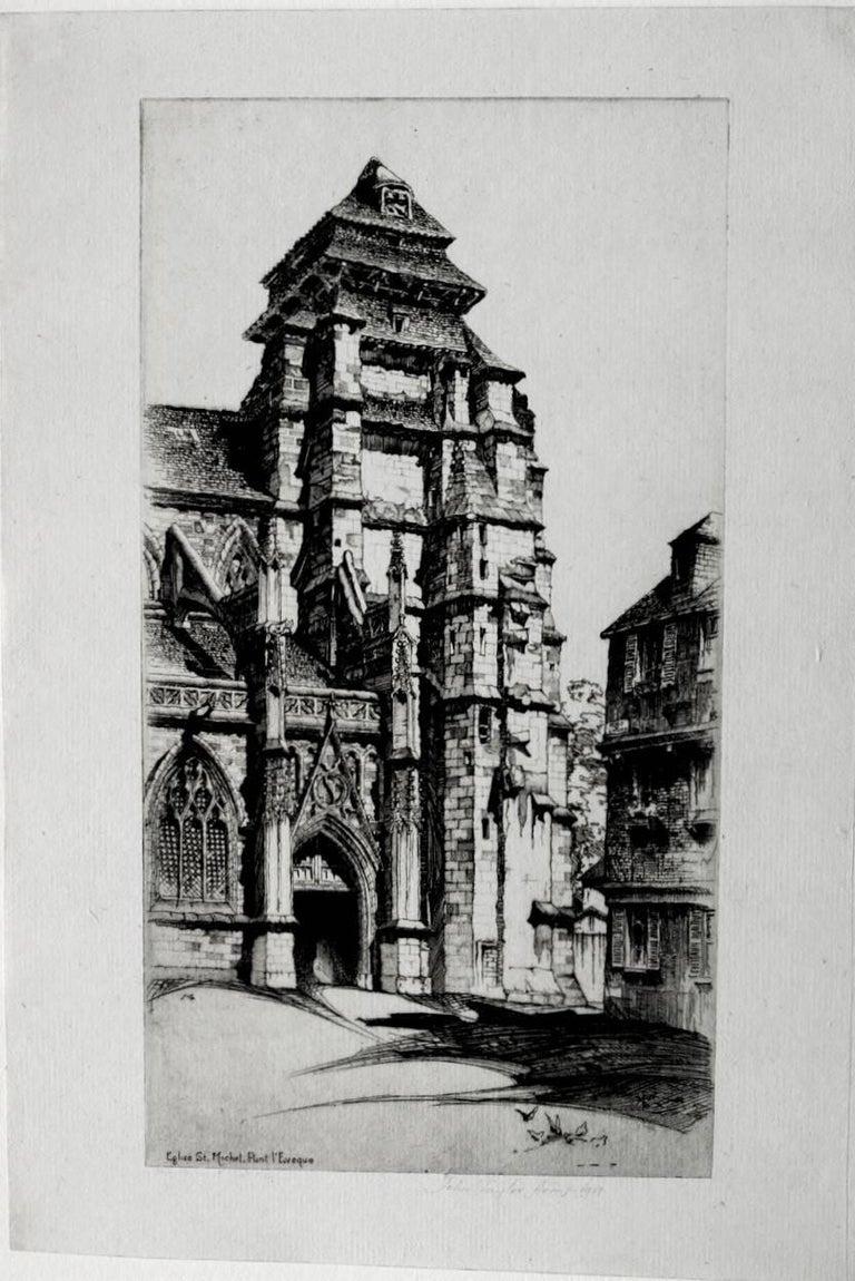 Église Saint Michel, Pont L'Évêque. - Print by John Taylor Arms