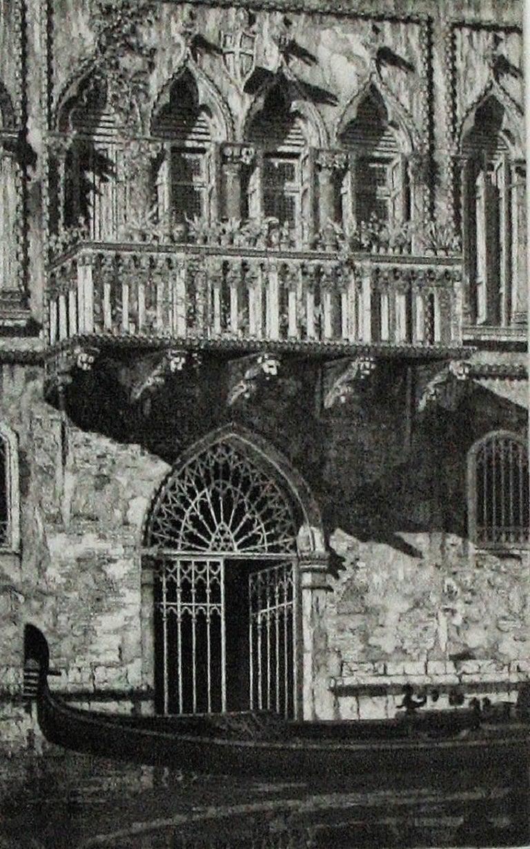 The Balcony (Venetian Gateway). - Print by John Taylor Arms