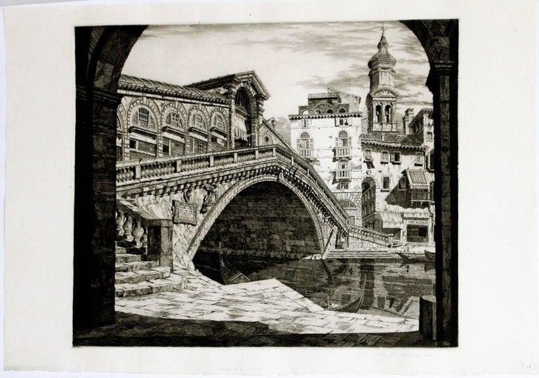Shadows of Venice. (Il Ponte di Rialto, Venezia)  - Print by John Taylor Arms