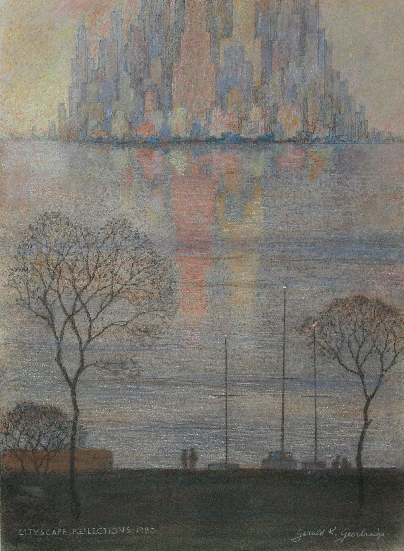 Cityscape Reflections - Misty Morning.