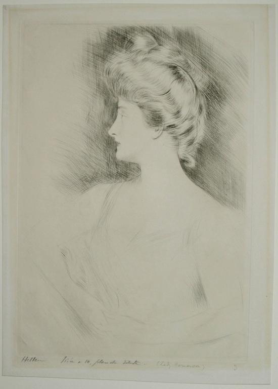Lady Carnarvon. - Impressionist Print by Paul César Helleu