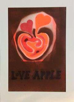 Love Apple (Brown background).