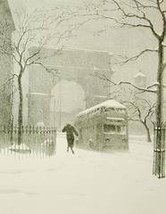Washington Arch in Snow