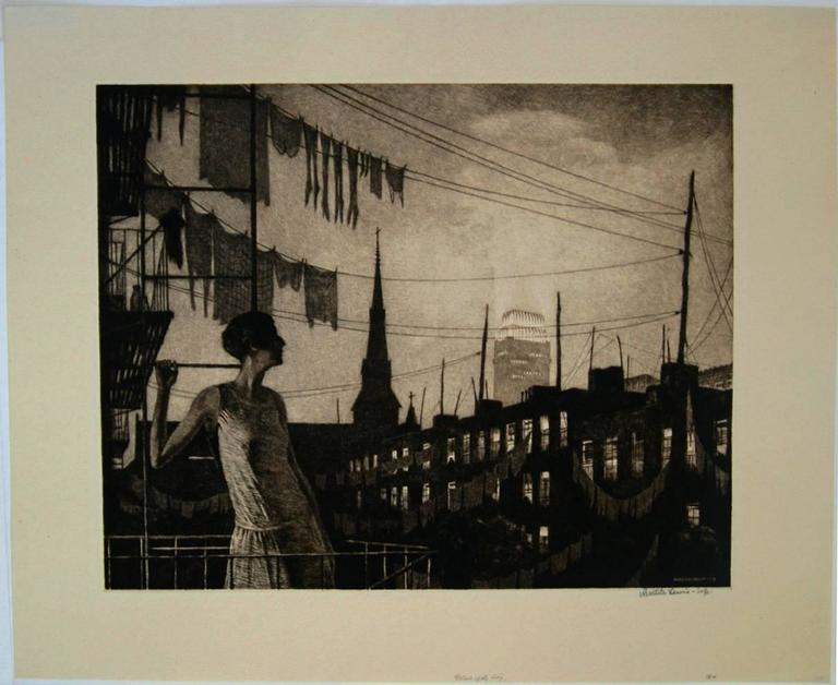 The Glow of the City.  - Print by Martin Lewis