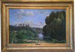 Bord de rivière. (River Landscape).