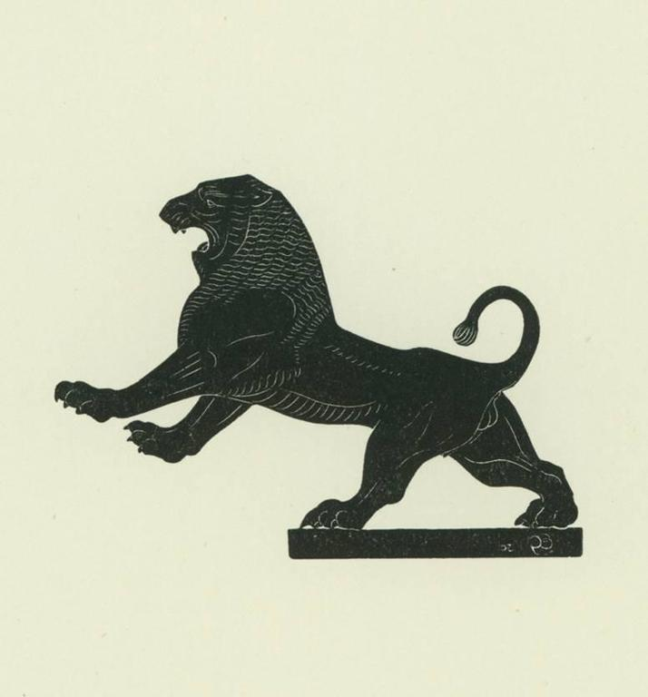Eric Gill The Lion Print At 1stdibs