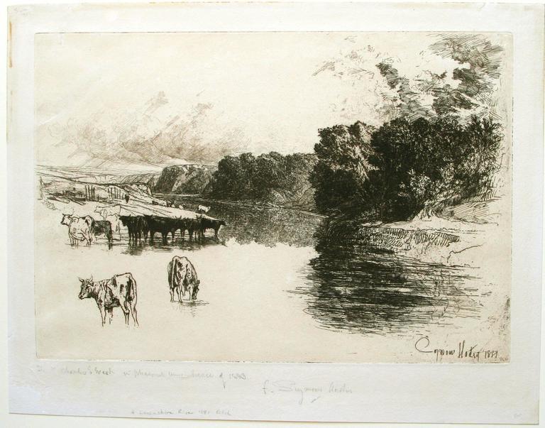 A Lancashire River. - Print by Sir Francis Seymour Haden, R.A.