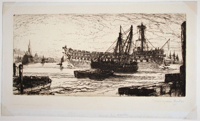 Breaking up of the Agamemnon, No 1 - Print by Sir Francis Seymour Haden, R.A.