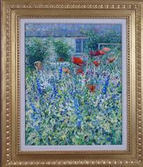 Poppies and Delphiniums