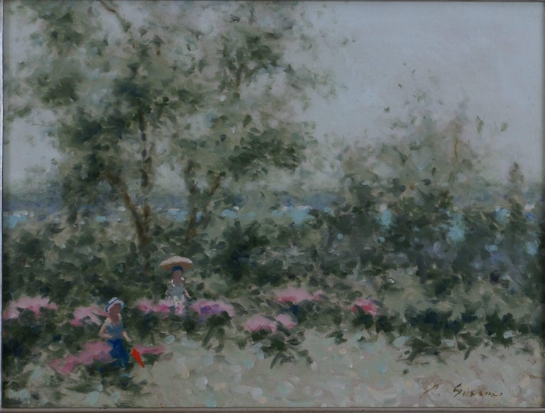 French Landscape - Painting by André Gisson