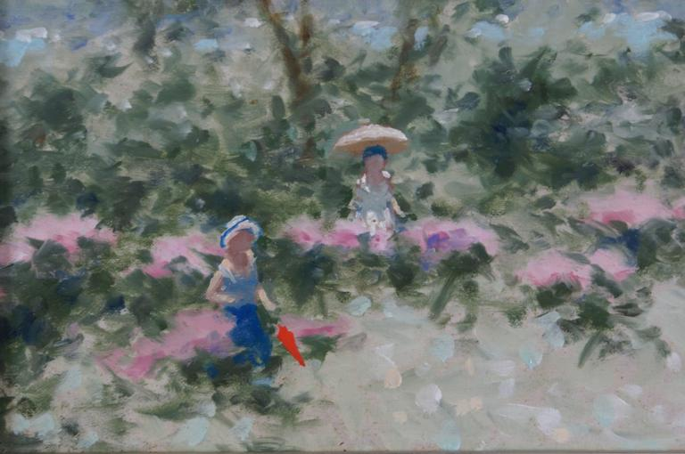 French Landscape - Impressionist Painting by André Gisson
