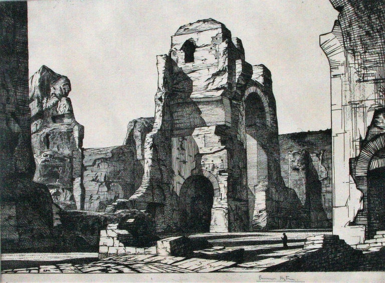 Edward Bouverie-Hoyton Figurative Print - Thermae of Caracalla, Rome