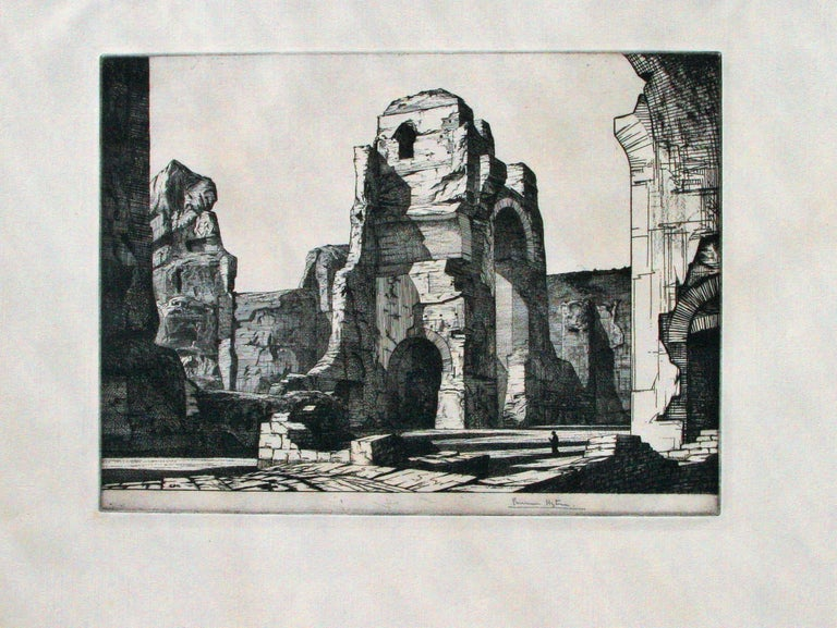 Thermae of Caracalla, Rome - Print by Edward Bouverie-Hoyton